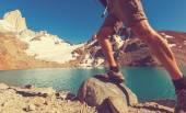 Man Hiking in Patagonia — Stock Photo