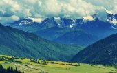 Caucasus mountains panorama — Stock Photo
