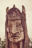 Indian head totem — Stock Photo