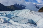 Kennecott glacier, Wrangell-St — Stock Photo