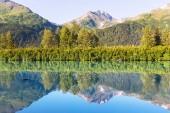 Serenity lake in tundra — Stock Photo