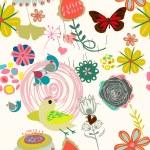 Retro floral seamless pattern  -  Stock Illustration — Stock Vector #73847259