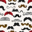 Moustache icons isolated set as labels -Stock Illustration — Stock Vector #73847355