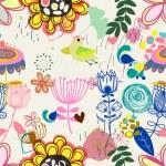 Retro floral seamless pattern  -  Stock Illustration — Stock Vector #73847365