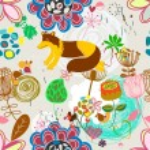 Retro floral seamless pattern  -  Stock Illustration — Stock Vector #73847641