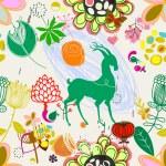 Retro floral seamless pattern  -  Stock Illustration — Stock Vector #73847695