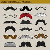 Beard-vector background — Stock Vector