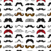 Moustache icons isolated set as labels -Stock Illustration — Stock Vector