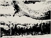 Respingo abstrato no fundo do fundo-vintage — Vetor de Stock