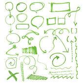 Hand drawn circles, vector design elements-eps 10 — Stock Vector