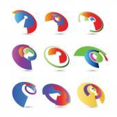 Resumen de infografías 3d de papel — Vector de stock