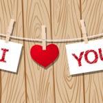 любовное сообщение — Cтоковый вектор #57032571