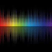 Color graphic equalizer — Stock Vector