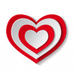 Paper red heart — Stock Vector #57464381