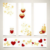 Templates for valentine's day banners — Stockvector