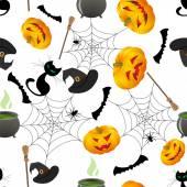 Halloween seamless — Stock Vector