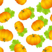 Pumpkins seamless — Stock Vector