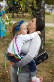Happy matka a dcera — Stock fotografie