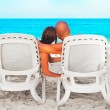Couple relaxing on sunbed — Stock Photo #59533545