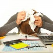 Businessman having stress — Stock Photo #61519405