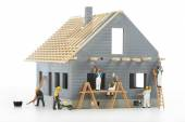 Construction of cottages — Stock Photo