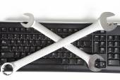 Tools and keyboard — Foto de Stock