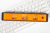 Tools and keyboard — Stock Photo