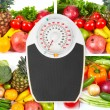Scales and collection fruits and vegetables — Stock Photo #62108871