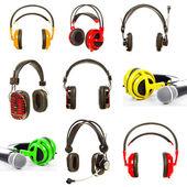 Microphone and headphones  — Stock Photo