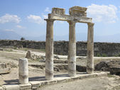 Columns and ruins of ancient Artemis temple — Stock Photo