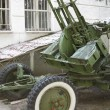 Russian old green anti-aircraft gun isolated over white — Stock Photo #54736271