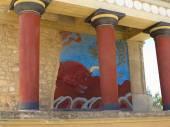 Antiche rovine del Palazzo di Cnosso — Foto Stock