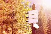 Arrow sings with copyspace. — Foto Stock