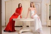 Portrait of beautiful two  girls — Stock Photo