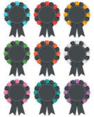 Black rosette decorations — Stock Vector