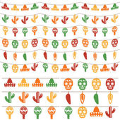 Mexican bunting — Stock Vector