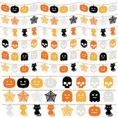 Halloween bunting — Stock Vector