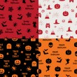 Halloween patterns — Stock Vector #52620559