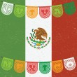 Постер, плакат: Mexican flag decoration