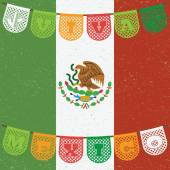 Mexican flag decoration — Vetorial Stock