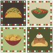 Mexican food decorations — Stock Vector #53066133