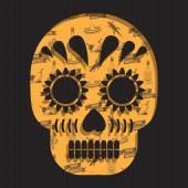 Mexican skull decoration — Stock Vector