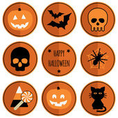 Halloween badges — Stock Vector