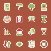 Media stickers — Stock Vector