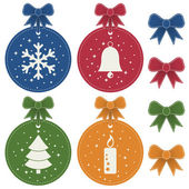 Christmas labels — Vector de stock