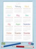 Calendar for 2015 — Vetor de Stock