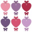 Heart labels — Stock Vector #61627201