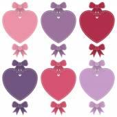 Heart labels — Stock Vector
