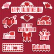 Valentine stickers — Stock Vector #61879797