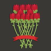Růže červené — Stock vektor